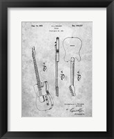 Framed Fender Guitar Patent