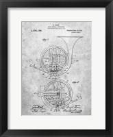 Framed Brass Musical Instrument Patent