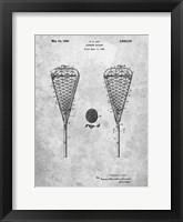 Framed Lacrosse Racquet Patent