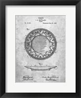 Framed Haviland Plate Patent
