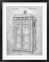 Framed Dr. Who - Police Box