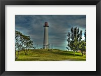 Framed Lighthouse with Red Top