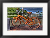 Framed Orange Bike