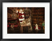 Framed Santas Dogs