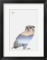 Framed Snow Owl I