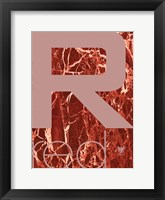 Framed Red Marble