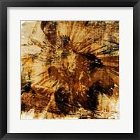 Framed Poppy Gold II
