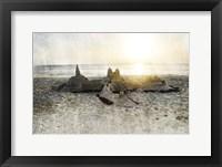 Sand Castle I Framed Print