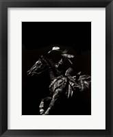 Scratchboard Rodeo I Framed Print
