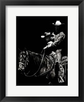 Scratchboard Rodeo II Framed Print