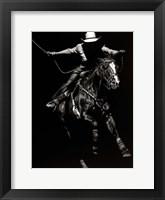 Framed Scratchboard Rodeo III