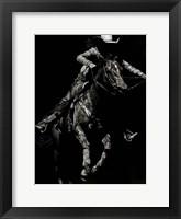Scratchboard Rodeo IV Framed Print