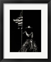 Framed Scratchboard Rodeo VI