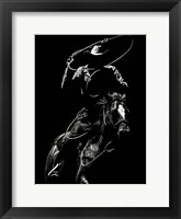 Scratchboard Rodeo VII Framed Print