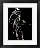 Scratchboard Rodeo VIII Framed Print