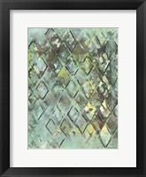 Lattice in Green I Framed Print