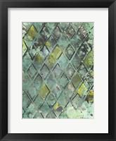 Lattice in Green II Framed Print