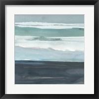 Framed Teal Sea I