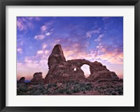 Sunset in the Desert I Framed Print