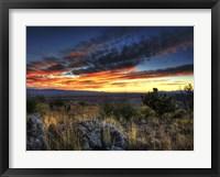Framed Sunset in the Desert IV