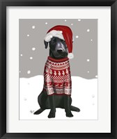 Framed Black Labrador, Christmas Sweater 1
