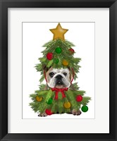 Framed English Bulldog, Christmas Tree Costume
