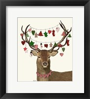 Framed Deer, Homespun Decorations
