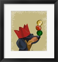 Framed Dachshund, Party Trick Baubles