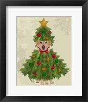 Framed Yellow Labrador, Christmas Tree Costume