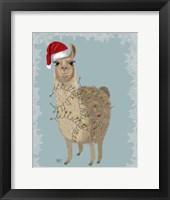 Framed Llama, Christmas Lights 2