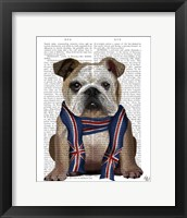Framed English Bulldog with Scarf