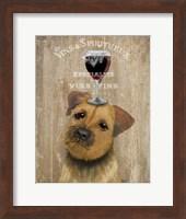 Framed Dog Au Vin, Border Terrier