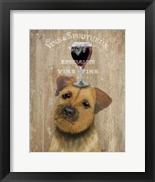 Framed Dog Au Vin, Border Terrier
