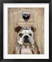 Framed Dog Au Vin, English Bulldog