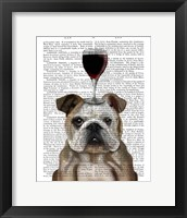 Framed Dog Au Vin, English Bulldog
