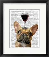 Framed Dog Au Vin, French Bulldog