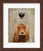 Framed Dog Au Vin, Cocker Spaniel