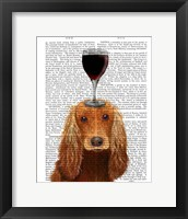 Framed Dog Au Vin, Cocker Spaniel