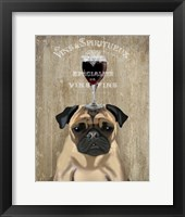 Framed Dog Au Vin, Pug