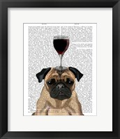 Framed Dog Au Vin, Pug