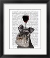 Framed Dog Au Vin, Schnauzer