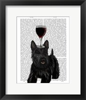 Framed Dog Au Vin, Scottish Terrier