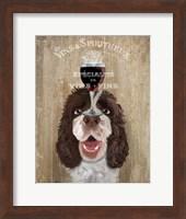 Framed Dog Au Vin, Springer Spaniel