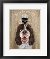 Framed Dog Au Vin, Springer Spaniel