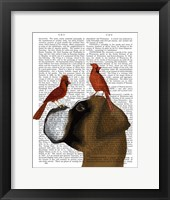Framed Boxer and Red Cardinals