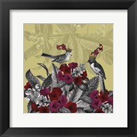 Framed Blooming Birds, Azalea