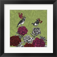 Framed Blooming Birds, Rhododendron