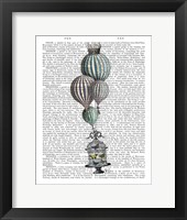 Framed Balloon and Bird Cage 1
