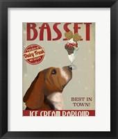 Framed Basset Hound Ice Cream