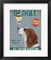 Framed Beagle Ice Cream